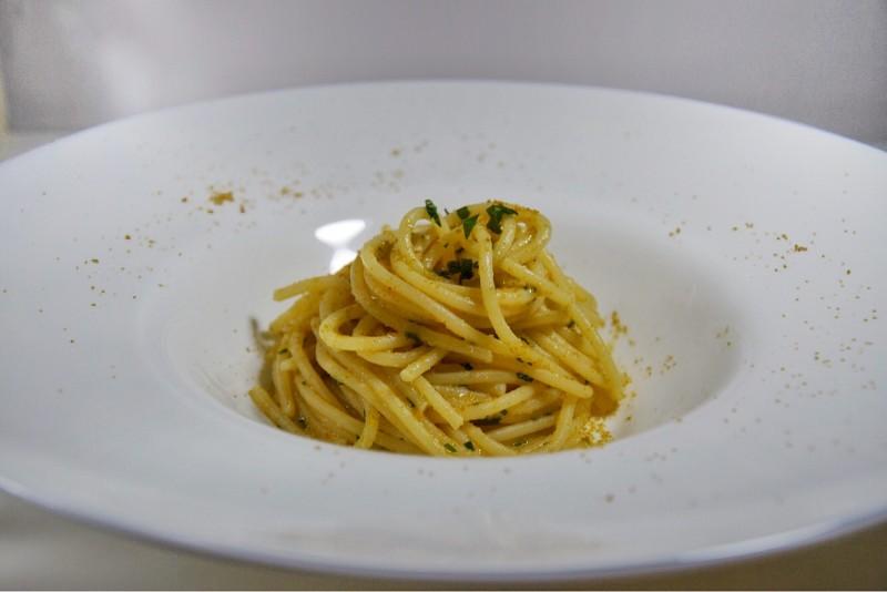 Spaghetti colatura bottarga